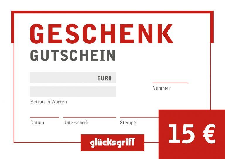Gutschein 15,- €
